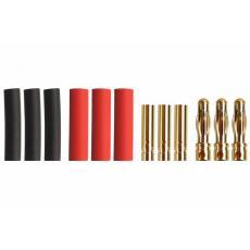 4,0mm Goldverbinder -- 3 Paar
