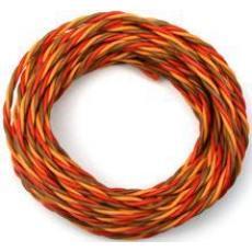 Gedrilltes -Silikon- Kabel, lose v.Rolle - 0,50qmm