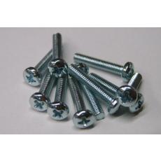 Linsenkopfschrauben, Stahl -- 2 x 20 mm