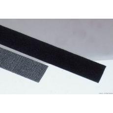 Klettband, schwarz -- 25 x 250 mm