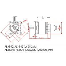 Brushless SET AL35-12 + 40A Regler