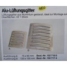 Alu - Lüftungsgitter -- 75 x 60 mm